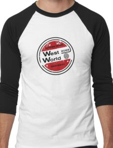 Westworld Retro Logo Round Men's Baseball ¾ T-Shirt