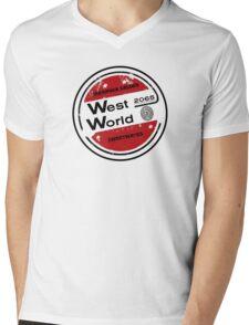Westworld Retro Logo Round Mens V-Neck T-Shirt