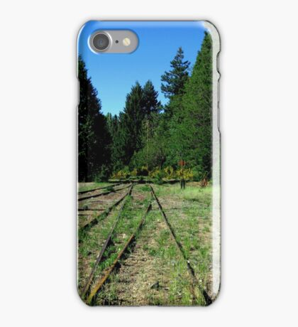 Abandoned trainyard in McCloud iPhone Case/Skin