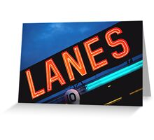 Neon Lanes Greeting Card