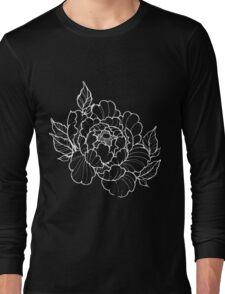White Peonies Long Sleeve T-Shirt