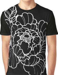 White Peonies Graphic T-Shirt