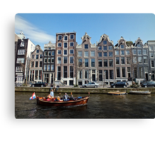 Amsterdam Canal III Canvas Print