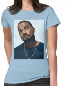Kanye West Low Poly Womens Fitted T-Shirt