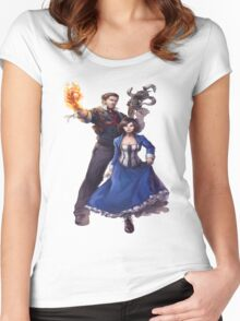Bioshock realistic and cool design Women's Fitted Scoop T-Shirt