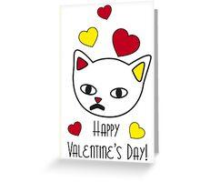 Freddie Meow Valentine's Day Greeting Card