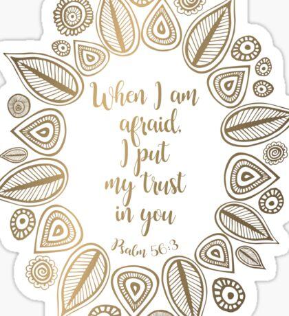 Psalm 56:3 Sticker