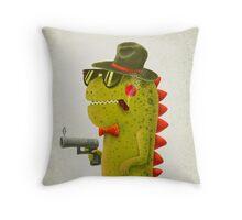Dino bandito Throw Pillow