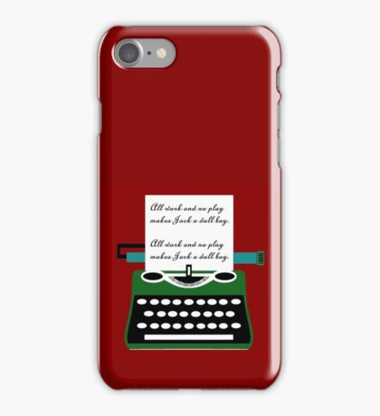 All work and no play typewritter text paper iPhone Case/Skin