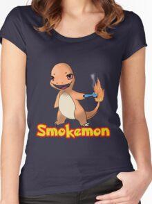 Charmander Smokemon Women's Fitted Scoop T-Shirt