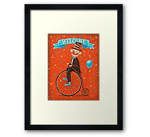 Penny-farthings circus Framed Print