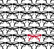 Optometrist Eye Glasses Frames Pattern Print by red addiction