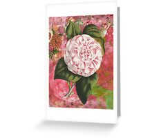 Vintage Camellia Collage Greeting Card