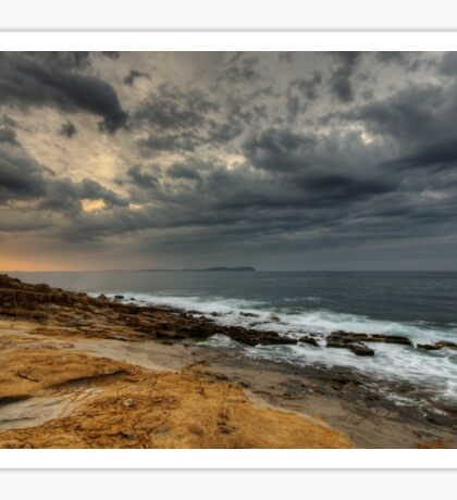 Stormy dawn on the sea Sticker
