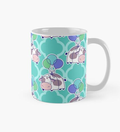 Balloon Cow Quatrefoil Pattern Mug