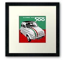 Classic Fiat 500 Italian flag Framed Print