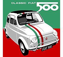 Classic Fiat 500 Italian flag Photographic Print