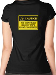 CAUTION - Storm Chaser Alert (Tornado) Women's Fitted Scoop T-Shirt