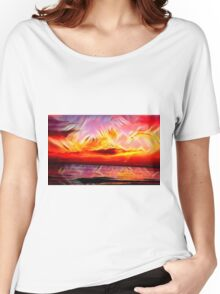 Gorgeous Sunset over Great Lake Michigan Women's Relaxed Fit T-Shirt