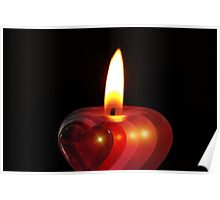 Candle heart 2 Poster