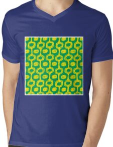 Ipanema beach pattern Mens V-Neck T-Shirt
