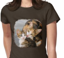 Mother Cat Loves Cute Kitten Womens Fitted T-Shirt