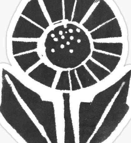 Block Print Flower Sticker