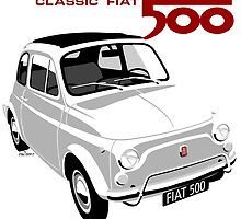 Classic Fiat 500L white by car2oonz