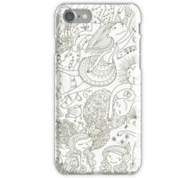 doodle girls iPhone Case/Skin