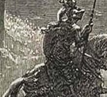 Don Quixote, Don Quijote, Gustave Doré, one of the 500 created for the work Sticker