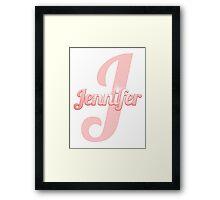 Baby Jennifer is a Superstar Framed Print