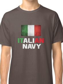 the italian navy Design with Italy Flag Classic T-Shirt