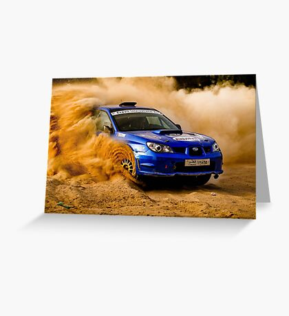 SUBARU IMPREZA RALLY Greeting Card