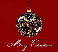 Merry christmas bauble by franceslewis