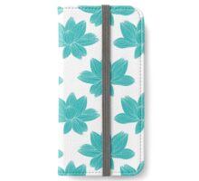 lotus flower pattern iPhone Wallet/Case/Skin