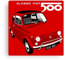 Classic Fiat 500L red Canvas Print