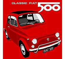 Classic Fiat 500L red Photographic Print