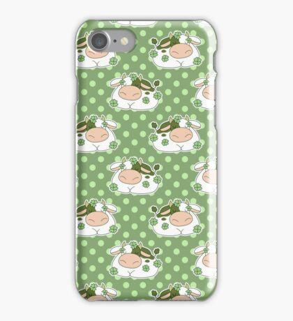 Clover Cow Polk-a-dot Pattern iPhone Case/Skin