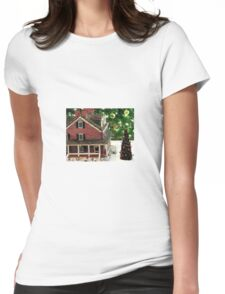 The Gingerbread Mansion Longwood Gardens Christmas 2011 Womens Fitted T-Shirt