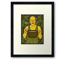 Cook (green) Framed Print