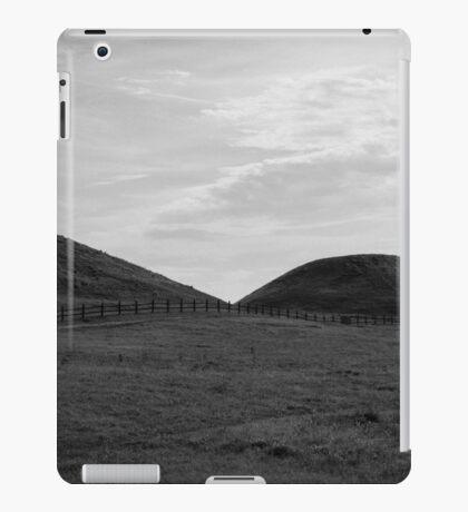 Flowing Fields - BW iPad Case/Skin