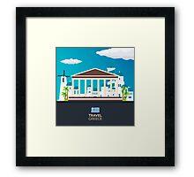 Travel to Greece skyline Framed Print