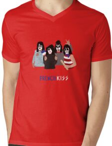 French KISS Mens V-Neck T-Shirt