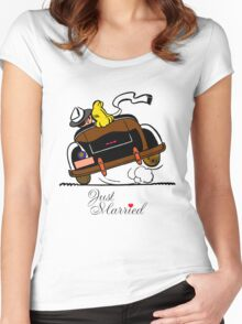 Just Married T-Shirt - Funny Gift for Couple. Women's Fitted Scoop T-Shirt