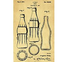 Bottle Support Patent Drawing From 1937  Photographic Print