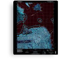 USGS TOPO Map California CA San Francisco North 295005 1993 24000 geo Inverted Canvas Print