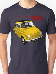 Classic Fiat 500L yellow T-Shirt