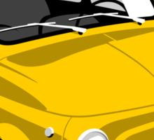 Classic Fiat 500L yellow Sticker