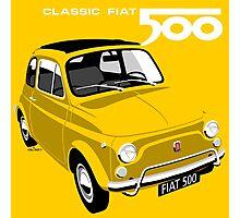 Classic Fiat 500L yellow Photographic Print