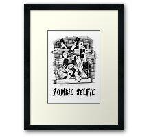 ZOMBIE SELFIE Framed Print